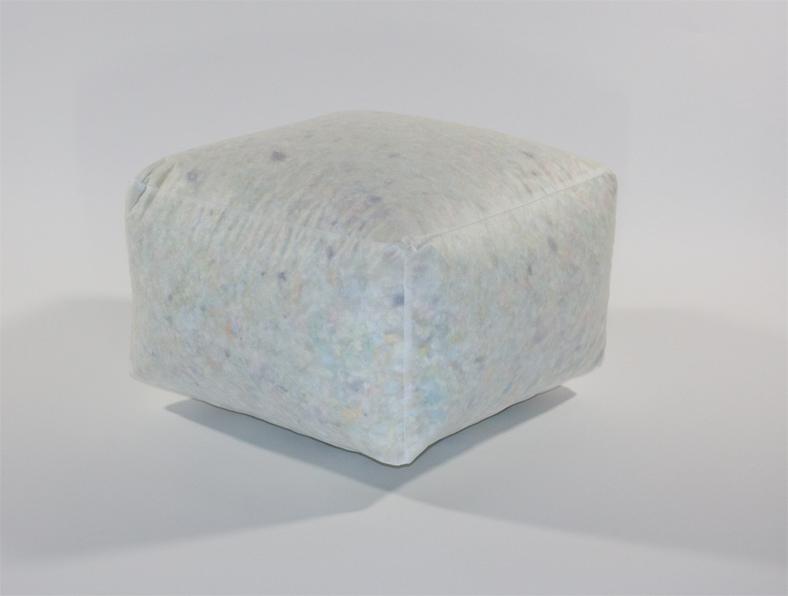 Vierkante Poef 40x40x20 - Vlokkenvulling